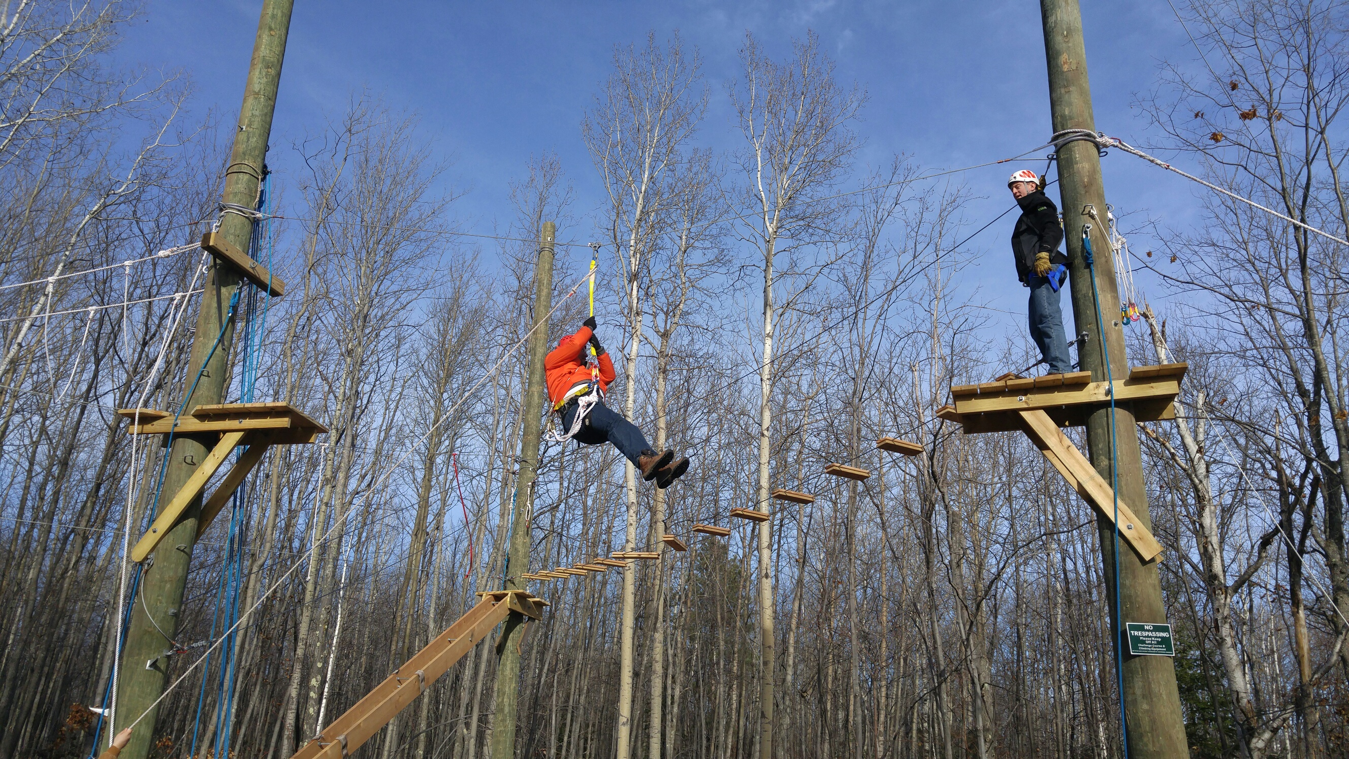 High Low Ropes Course Teaching Family Homes Of Upper